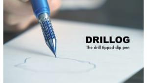 """クラファンで人気沸騰中!航空機部品の加工技術を生かした""""つけペン""""「DRILLOG」が登場"""